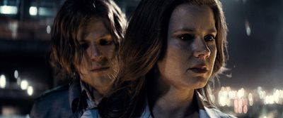 """Jesse Eisenberg's Lex Luthor and Amy Adams' Lois Lane are pictured in a scene from """"Batman v Superman: Dawn of Justice"""". (Warner Bros.)"""