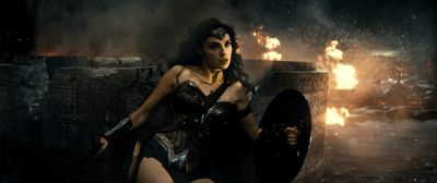 """Gal Gadot's Wonder Woman is pictured here in a scene from """"Batman v Superman: Dawn of Justice"""". (Warner Bros.)"""
