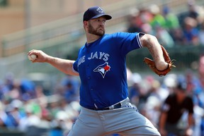 Toronto Blue Jays starting pitcher Brad Penny (31) throws a pitch during the first inning against the Houston Astros at Osceola County Stadium. Kim Klement-USA TODAY Sports