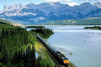 <b>Canada:</b> The historic Canadian train travels a highly diverse train route. Leaving from Toronto and chugging along Ontario's lake land, the Prairies, the Rockies and finally to B.C.'s Vancouver coast, the route offers variety of quintessential Canadian sights with the old-fashioned comforts of a train. (Courtesy Via Rail Canada)