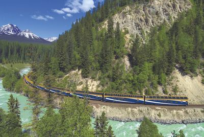 <b>Canada:</b> The Rocky Mountaineer train travels through British Columbia's most stunning natural sites. Have your camera ready as you travel past glaciers, waterfalls, limestone caves and even the UNESCO recognized Yoho National Park. (Courtesy Rocky Mountaineer)
