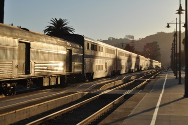 California: Amtrak's Coast Starlight train runs along the west coast of the United States, from Seattle to Los Angeles. The train includes a Sightseer Lounge among its cars. The lounge features floor to ceiling windows, perfect for viewing the scenery as you travel the coast. (Fotolia)