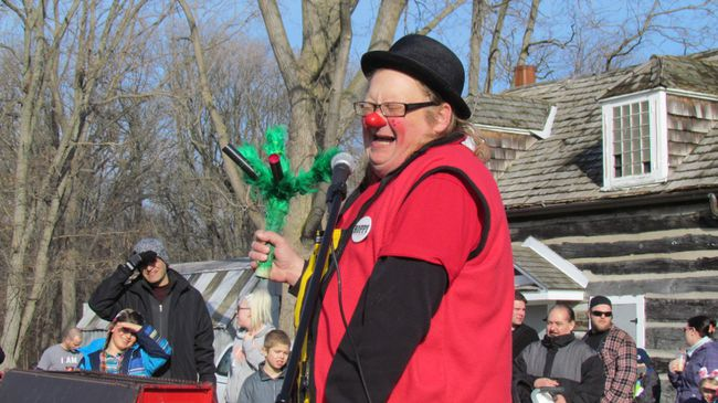 Hoppy the Clown performs in Canatara Park on Saturday March 26, 2016 in Sarnia, Ont.The show was part of Easter in the Park activities, an annual tradition in Sarnia.