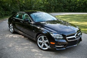 Vehicle pictured is similar to the Mercedes sought in a fatal hit-run on Thursday, March 31: A 2012 black Mercedes Benz CLS 550, with licence plate BYVK 272.
