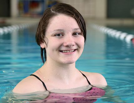 Wallaceburg's Madison Broad of the Chatham Y Pool Sharks. (MARK MALONE/The Daily News)