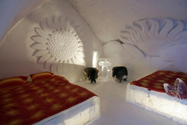 Ice hotel: Planning a winter wedding? The Hotel de Glace in Quebec City is a unique, if chilly, place to hold your nuptials. The hotel provides an ice chapel for ceremonies. (Postmedia Network)
