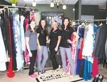 KELCI NICODEMUS HIGH RIVER TIMES/ POSTMEDIA NETWORK. Coco Lux Beauty Bar staff will once again accept graduation clothes for young men and women in financial need. Pictured above, is the event prior to the 2016 graduation day.
