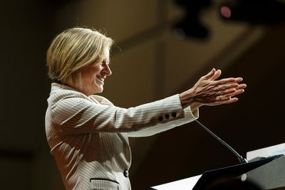 Alberta Premier Rachel Notley speaks at the Edmonton 2016 NDP national convention at Shaw Conference Centre in Edmonton, Alta., on Saturday April 9, 2016. Photo by Ian Kucerak