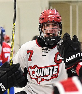 Team captain Nathan Dunkley was one of five QRD minor midgets to be selected in Saturday's OHL draft. (Aaron Bell/OHL Images)
