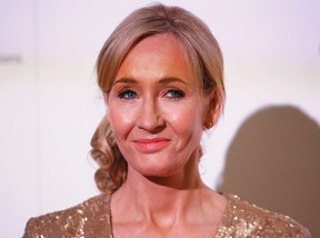 File photograph shows author J.K. Rowling hosting a fundraising evening at the Warner Bros. Studio in London, Britain, on Nov. 9, 2013. (REUTERS/Olivia Harris/Files)