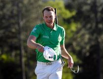 Danny Willett reacts after putting out on the 18th green during the final round of The Masters on Sunday. (USA TODAY Sports)