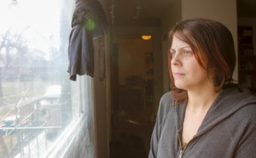 Amanda Courneyea, an Amherstview mother of five, is angry over the Ontario government's changes to the provincial autism Intensive Behavioural Intervention program. (Julia McKay/The Whig-Standard)