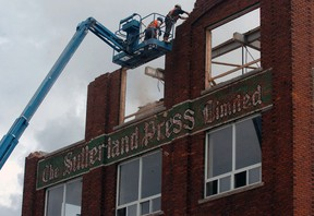 The City of St. Thomas first attempted to demolish the Sutherland Press building in 2008.