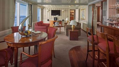 <b>Owner's Suite - Silversea:</b> This 1,264 sq. foot suite features two beds and two baths, a separate dining space, veranda and bar stocked with your choice of beverages. Rates start at $1,420 per person, per night. (Courtesy Silversea)