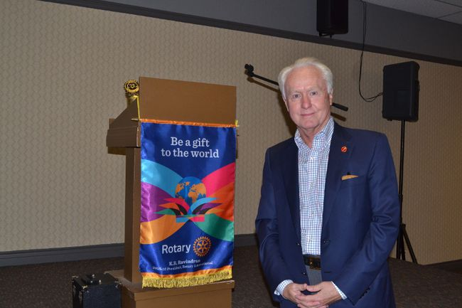 Senator Doug Black delivered a speech on the future of Alberta's economy to the Rotary Club on Friday April 15, 2016 in Grande Prairie, Alta. Kevin Hampson/Grande Prairie Daily Herald-Tribune/Postmedia Network