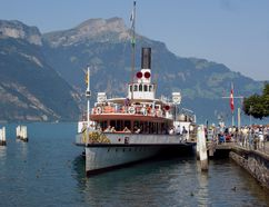 Lake Lucerne's tour boats let visitors take in the dramatic Alpine scenery that surrounds the charming Swiss city. RICK STEVES PHOTO
