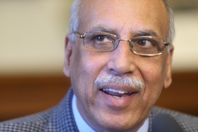 Mohinder Saran had a scare in The Maples on Tuesday night, trailing with only one poll left to report, before coming back to win. (FILE PHOTO)