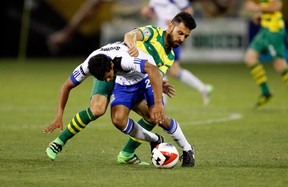 FC Edmonton rookie midfielder Shamit Shome made his pro debut with the Eddies against the Tampa Bay Rowdies Saturday in Tampa Bay, Fla. Shome also plays for the U of A Golden Bears, taking Canada West rookie of the year honours in 2015, as well as the Canada U-20 team. (Supplied)