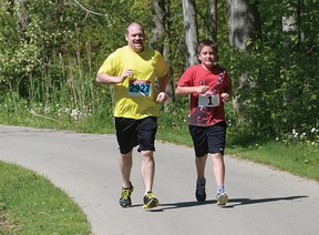 The weather was great for the 2014 MSC Trail Walk and Run... but not so much in 2015 when driving wind and rain forced organizers to cancel the event. This year's MSC Trail Walk and Run, a fundraiser for the Multi-Service Centre and Parkinson Society, is planned for Sunday, May 29. (CHRIS ABBOTT/FILE PHOTO)