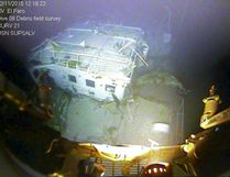 A closeup view of the El Faro navigation bridge is shown on the ocean floor taken by an underwater video camera November 12, 2015. National Transportation Board/Handout via REUTERS