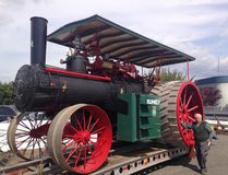 George Hoffman is dwarfed by his restored 1911 Rumely. BRIAN HORSTEAD, 24 HOURS