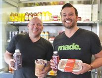 Peter Kok (left) and Chris Dobson are all set for the grand opening of Made Foods on Apr. 30, giving Cochranites healthy meals made for people on the go.