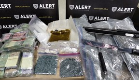 ALERT arrested three people in Edmonton following a seizure of 1,255 fentanyl pills and other drugs. FILE PHOTO