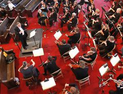 INTELLIGENCER FILE PHOTO On Sunday, May 8. at 2:30 p.m. an audience will see something that will leave the rafters in the historic church ringing for hours after when the Northumberland Orchestra and Quinte Symphony join forces with Bridge Street Choir for a spectacular concert.