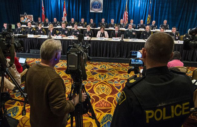 OPP press conference on massive investigation targeting online child exploitation on Thursday April 28, 2016. (Craig Robertson/Toronto Sun/Postmedia Network)