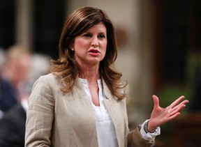 Interim Conservative leader Rona Ambrose asks a question during question period in the House of Commons on Parliament Hill in Ottawa on April 21, 2016. (THE CANADIAN PRESS/Patrick Doyle)