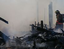 The scene of a fire at a Sills Road home early Friday morning. Tim Miller/The Intelligencer/Postmedia Network.