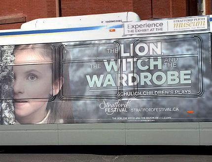 A Stratford Transit bus will carry people between the Avon Theatre and the Stratford Perth Museum on days when there are matinee performances of The Lion, The Witch and The Wardrobe. (Contributed photo)