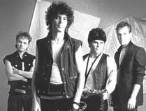 Paul Harlow (a stage name for Paul Wootton) fronted the London band Spiral Scratch in 1985. His bandmates were bassist Colin Campbell, left, sax player Larry Pastuck and drummer Curt Kussman. (Free Press file photo)