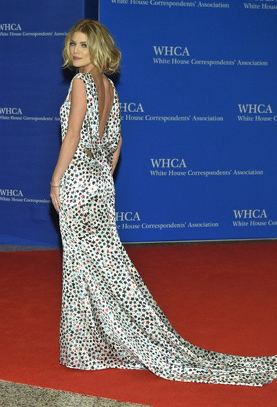 AnnaLynne McCord arrives at the White House Correspondents' Association Dinner at the Washington Hilton Hotel on Saturday, April 30, 2016, in Washington. (Photo by Evan Agostini/Invision/AP)