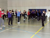 Sean Chase/Daily Observer More than 35 people came out Saturday to mark World Tai Chi Day the Algonquin College Waterfront Campus. As a testament to its popularity, the event, hosted by the Upper Ottawa Valley Tai Chi Club, was held in 80 countries.