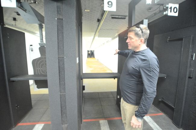 Loyalist Shooting Club director Bryce Geoffery shows the Reticle-owned facility's shooting range in this Recorder and Times file photo.