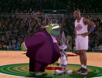 Michael Jordan in a scene from Space Jam. (Handout)
