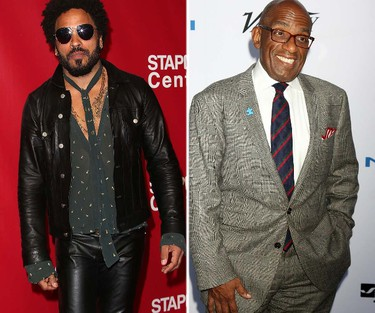"""Rocker Lenny Kravitz and """"Today"""" show weatherman Al Roker are cousins. Well, once-removed cousins. (WENN.COM)"""