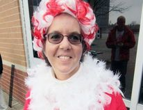 Marsha Ryerse of Delhi was one of seven members of the team Keep S'Myelin that participated in this weekend's Mandarin Walk for MS in Simcoe. MS has caused problems with Ryerse's vision but to date she's been able to keep the condition under control. (MONTE SONNENBERG Simcoe Reformer)
