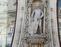 Dom Sebastiao statue is seen at Rossio station in downtown Lisbon, Portugal March 15, 2016. REUTERS/Rafael Marchante