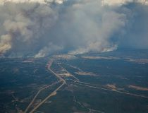 Fort McMurray fire from above