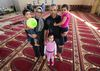 Fort McMurray wildfire evacuees Mohamed Bouchaala, his wife Fatma Louati, and their children Shayma Bouchaala, 5, Hend Bouchaala, 3, and Haydar Bouchaala, 2, pose for a photo at the Al Rashid Mosque, 13070 - 113 St., where they are now staying, in Edmonton Alta. on Wednesday May 4, 2016. Mohamed, who did not have enough gas to safely get his family out of Fort McMurray, went to the airport and rented a car that came with a full tank of gas. Photo by David Bloom