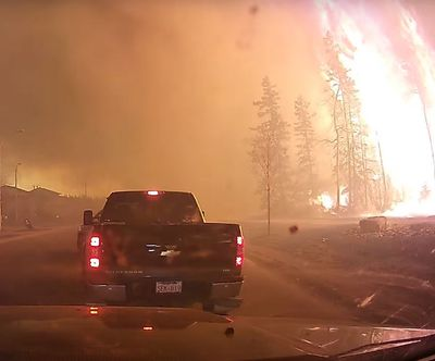 A harrowing drive out of Fort McMurray capture on dash-cam, May 3, 2016. (youtube.com/watch?v=BGZBoaa0-os)
