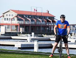Local runner and cyclist, Eric Lindenberg. (Bob House Photography)