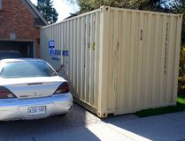 A temporary rental storage box at a home on Carriage Hill Drive in London on Friday May 6, 2016. (MORRIS LAMONT, The London Free Press)