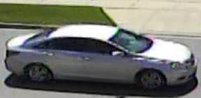 Peel Regional Police are searching for this car after a drive-by shooting  on Kirk Dr., near Chinguacousy Rd. and Williams Pkwy., around 12:20 p.m. Friday in Brampton.