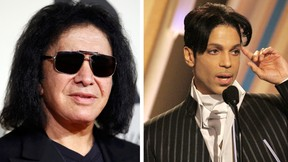Gene Simmons  and Prince. (REUTERS/Danny Moloshok and REUTERS/Mario Anzuoni/File Photo)