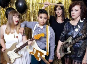 All-female cover band Hervana plays the London Music Club Saturday.