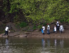 About 150 people helped clean up the banks of the Grand River in Brantford, Ontario on Saturday May 14, 2016 during the 15th annual Grand River Environmental Festival. Brian Thompson/Brantford Expositor/Postmedia Network