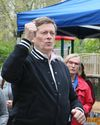 Mayor John Tory gets into the music of Sharon and Bram on Saturday May 14, 2016. Sharon, Lois and Bram were celebrated with the opening of a new music garden at the June Rowlands Park. Veronica Henri/Toronto Sun/Postmedia Network